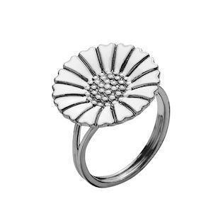 Model 907018-H-RH, fingerring sort rhodineret fra Lund Copenhagen i 925 sterling sølv