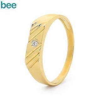 Model 23492, fingerring blank fra Bee Jewelry i 9 kt guld