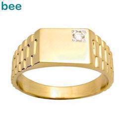 Model 24637, fingerring blank fra Bee Jewelry i 9 kt guld
