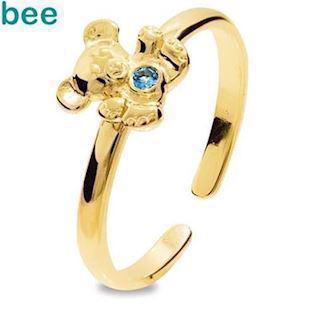 Model 25291-SPAQ-K, fingerring blank fra Bee Jewelry i 9 kt guld