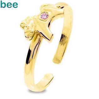 Model 25294-CZP-K, fingerring blank fra Bee Jewelry i 9 kt guld