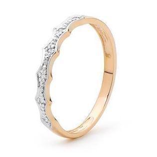 Model R25359, fingerring blank fra Bee Jewelry i 9 kt guld