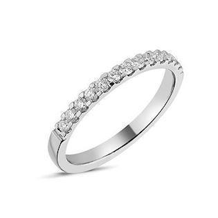 String gulds fingerring med 1-35 stk 0,01 carat diamanter