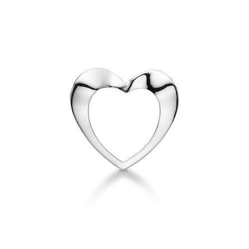 Model 1232,25, Open Heart 30 x 28 mm fra Aagaard i Sterling sølv