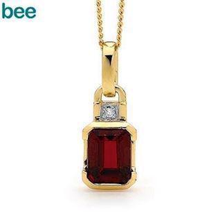 Model 64659-CR, collier blank fra Bee Jewelry i 9 kt guld