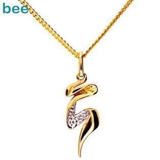 Model 65098, collier blank fra Bee Jewelry i 9 kt guld