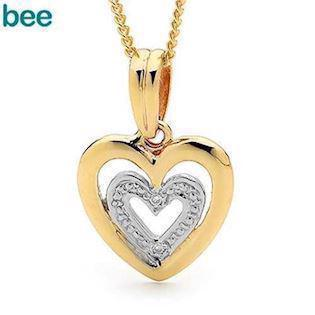 Model 65410, collier blank fra Bee Jewelry i 9 kt guld