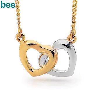 Model 65450, collier blank fra Bee Jewelry i 9 kt guld