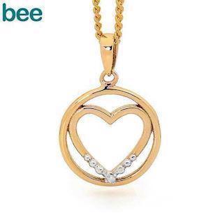 Model 65574, collier blank fra Bee Jewelry i 9 kt guld