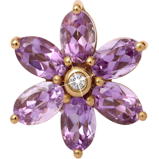 Christina Watches Big Amethyst Flower charm