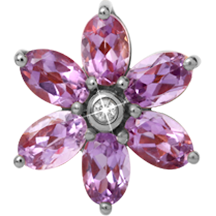Christina Watches stor amethyst charm