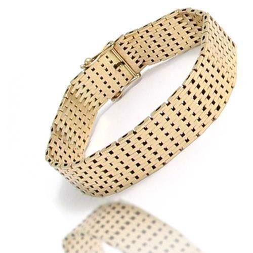 fe495e4469a1 Murstens armbånd og halskæder (lige   forløb) i 14 karat massivt guld med  kasselås