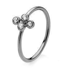 Model A4076ssr, Fingerring blank sort fra Izabel Camille i 925 sterling sølv