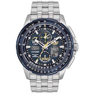 Model JY8058-50L Citizen Promaster Sky Blue Angels Eco drive radio controlled quartz Herre ur