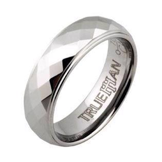 Trueman tungstens facet fingerring
