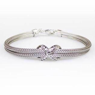 Model 89205, armbånd rhodineret fra San - Link of joy i 925 sterling sølv